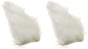 Johnny Loves Rosie Hair Clips with Fluffy Ears White Pack of 12 Rolls)