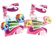 My Little Pony Rainbow Dash & Fluttershy Hair Snap Clips Sleepies x 4