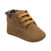 Infant Boys Autumn Casual High Top T-tied Suede Crib Sneakers Boots