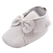 Baby Girls Soft Soled Tassels Bowknots Crib Shoes Suede Moccasins
