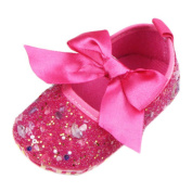 Newborn Baby Bow Diamonds Bling Mary Jane Toddler Prewalker Shoes