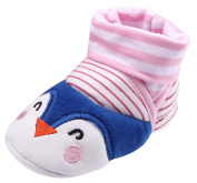 EOZY Toddler Girls Princess Soft Sole Crib Socks Slip On Crawling Sneakers Shoes