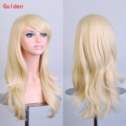 Enjoydeal New Heat Resistant Long Curly Hair Wavy Party Anime Wigs Golden