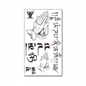 1 Pc Temporary 3D Waterproof Tattoo Sticker Sanskrit Letter Pattern Arm Body Art Tattoos