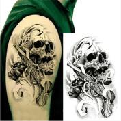 1 Sheet Waterproof Temporary Tattoo Sticker Sexy Skull Pattern Decal Arm Leg Fake Transfer Tattoos