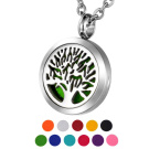 Aromatherapy Essential Oil Diffuser Tree of Life Necklace