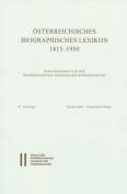 Osterreichisches Biographisches Lexikon 1815-1950 / Osterreichisches Biographisches Lexikon 1815-1950 Lieferung 67 [GER]