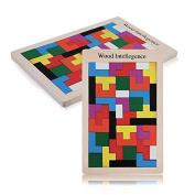 Yalulu Colourful Wooden Tangram Brain Teaser Puzzle Toys Tetris Game Preschool Magination Intellectual Educational Kid Toy Children Gift