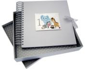 White Cotton Cards Safari Animals Age 1 Card and Memory Book, Code SAF10