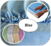 Jersey 100% Cotton Fitted Sheet Suits Cot Bed 140x70 cm - BLUE