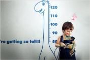 Newsee Decals Dinosaur Height Chart Wall Stickers Decor Decals Kids Bedroom Nursery Vinyl Stickers Dark Blue