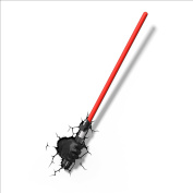 3D Light FX 50030 Star Wars Darth Vader Hand and Light Sabre 3D Deco Light, Plastic, Black/Red