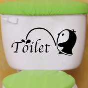 Winhappyhome Little Penguin Toilet Art Sticker for Bathroom Decoration Decals