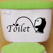 Winhappyhome Little Penguin Toilet Art Sticker for Bathroom Decoration Decals