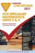 Cambridge Checkpoints VCE Specialist Mathematics 2017 and Quiz me More