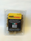HAIR TOOLS EXTRA-LONG 5.6cm WAVED BLONDE GRIPS 500 BOX