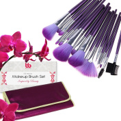 Proffessional Makeup Brushes Set of 16, Free Purple Case, By Beauty Bon