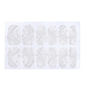 LHWY Lace Diamond Flower Stickers Nail Art Tips