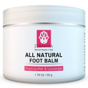 Elbahya Organic Foot Balm with Shea Butter and Lavender Effective Natural Moisturiser for Dry Cracked Feet and Heels. 50g