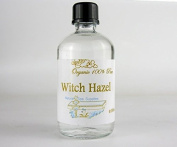 100ml Organic Pure Witch Hazel (additive free). Packed in Glass.
