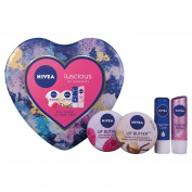 Nivea Luscious Lip Moments Gift Set for Women - 4-Piece