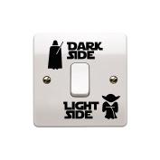 Star Wars Dark Light Side Switch Vinyl Decal Sticker