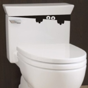 2pcs Monster Toilet Stickers Wall Art Decal