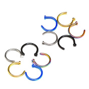 Mudder 10 Pack Stainless Steel Nose Studs Nose Hoop Ring