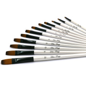 YOUSHARES 12 pcs Art Paint Brush Set for Watercolour, Oil, Acrylic Painting / Craft, Nail, Face Paint
