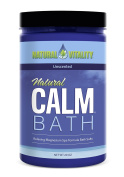 Natural Vitality Natural Calm Magnesium Bath Minerals, Unscented, 590ml