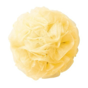 Thicker Bath Loofahs Mesh Pouffe Shower Lily Shower Sponge Ball Brush, Yellow
