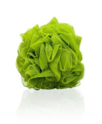Thicker Bath Loofahs Mesh Pouffe Shower Lily Shower Sponge Ball Brush, Olive Green