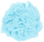 Thicker Bath Loofahs Mesh Pouffe Shower Lily Shower Sponge Ball Brush, Aqua Blue