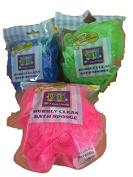 Razz New Bubbly Clean Bath Sponge-Antimicrobial to Keep Sponge Cleaner & Fresher-Blue,Green & Pink-Total 3 Sponges