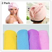 Microfiber Super Absorbent Hair Towel, Dry Hair Cap