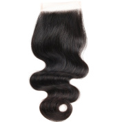 SUPERLOVE Brazilian Body Wave Lace Closure 4x 4 Size Free Part Human Hair Closure Natural Colour 36cm