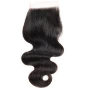 SUPERLOVE Brazilian Body Wave Lace Closure 4x 4 Size Free Part Human Hair Closure Natural Colour 36cm