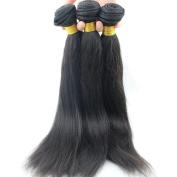 Atina hair Light Yaki Straight Human Hair Weave Grade 7A Brazilian Virgin Natural Yaky Weave Hair Extensions for Black Women