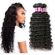 Peony Hair 8A Grade Uprocessed Brazilian Deep Wave virgin hair 4 Bundles Remy Human Hair Natural Colour