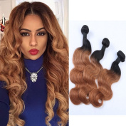 Fennell Brazilian Human Hair Blonde Ombre Body Wave 3 Bundles Unprocessed Human Remy Hair 100g/Pcs(2.4m - 8.5m)