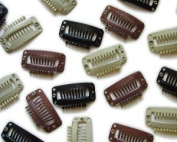 HOTstyle - Hair extension clips with silicone - Brown