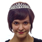 Fairy Tale Fun Rhinestone Tiara with Side Combs, Silver
