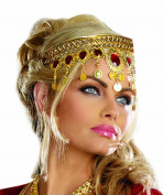 Headpiece Gold Dripping Rubies - Multi Colour - Standard Size