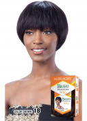 MAPLE (1 Jet Black) - Model Model Bravo 100% Human Hair Full Wig