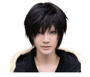 Meditative Rose Men's Death Note Animation Role Black Short Hair Straight Hair Playing Wig