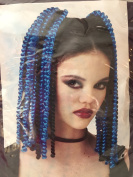 Black/Blue Spiral Falls Adult Hair Accessory