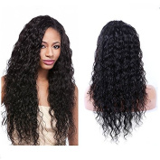 Natural Colour Brazilian Virgin Hair Lace Wig 130% Density Kinky Curly Lace Front Human Hair Wig For Black Women