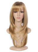 Beauty Smooth Hair Fashion Stylish Long Ginger Blonde Straight Hair Wig for Women -Cosplay or Mannequins Carnival or Theme Parties 0909