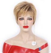 Beauty Smooth Hair Charm Short Kanekalon Gold Natural as Human Hair Wigs 0692