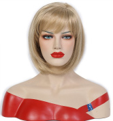 Beauty Smooth Hair Blonde Shoulder Length Bob Synthetic Wig 0975